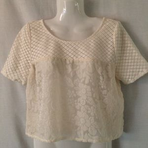 Abercrombie & Fitch Crochet Top Size S